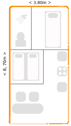 Mobile -home -plattegrond