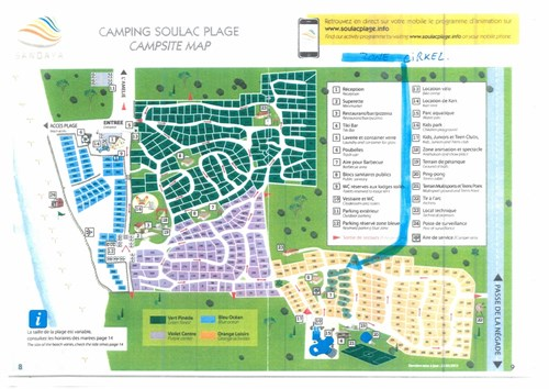 Plattegrond Camping Soulac Plage